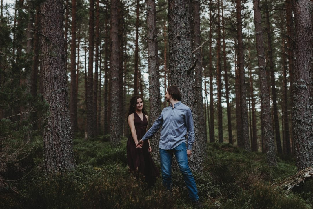 adventurous couples session in the Cairngorms, Scottish Highlands
