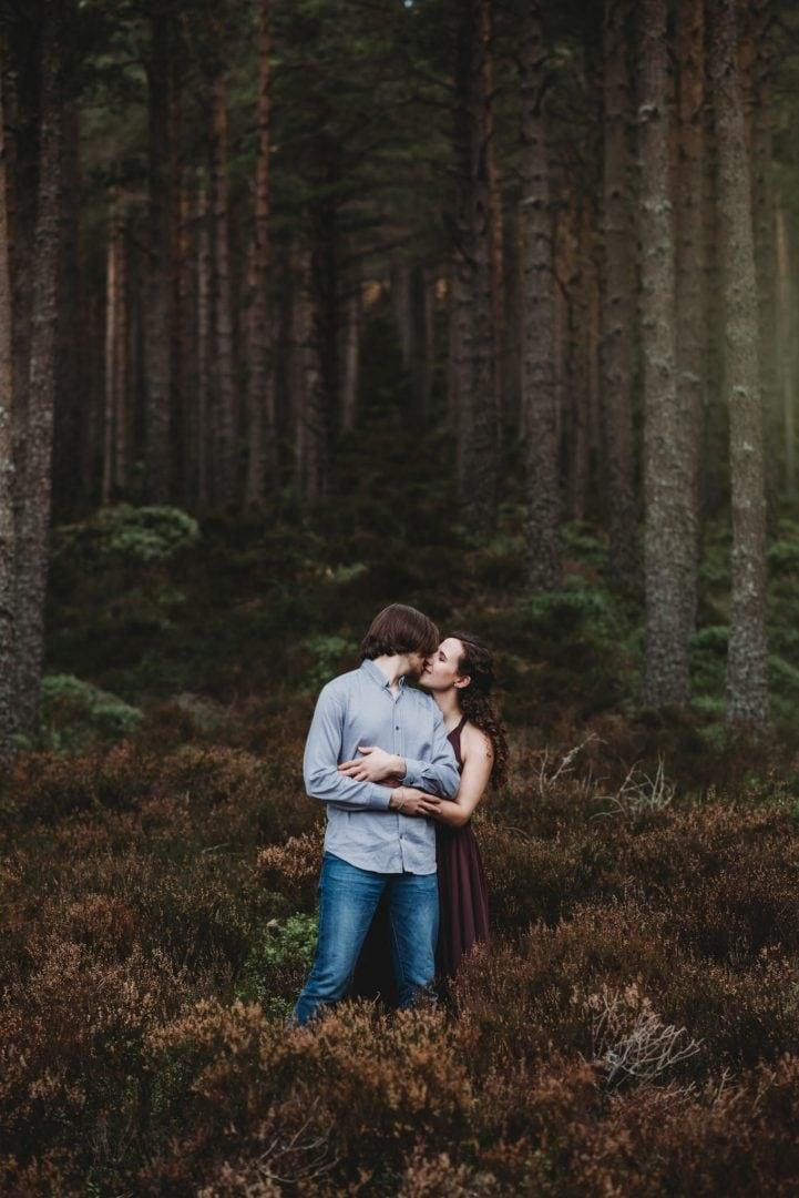 Aviemore adventure session - elopement romantic woodlands