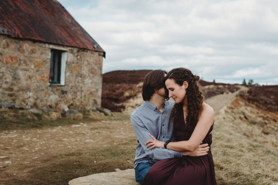 Cute couple - couples session in the Cairngorms, Scottish Highlands