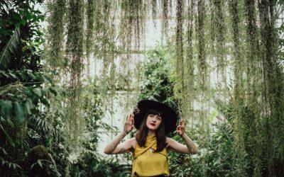Royal Botanic Gardens Edinburgh portrait shoot | Justine