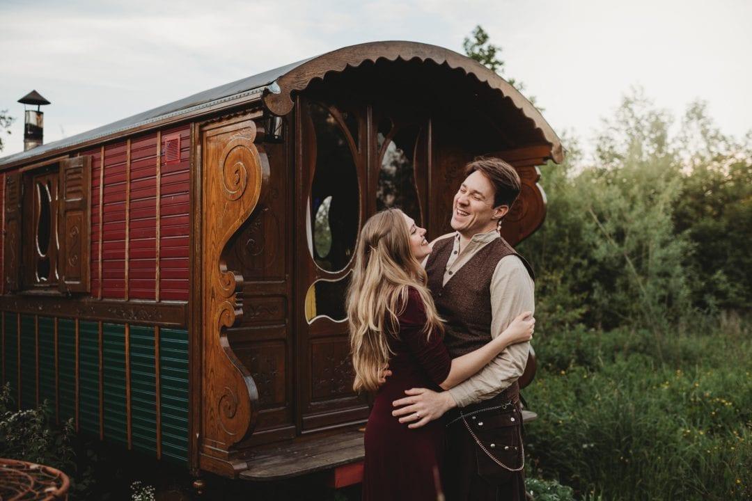 roulotte retreat romantic weekend getaway, scottish borders