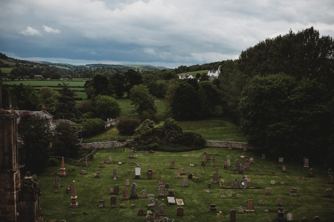 scenery at Melrose Abbey