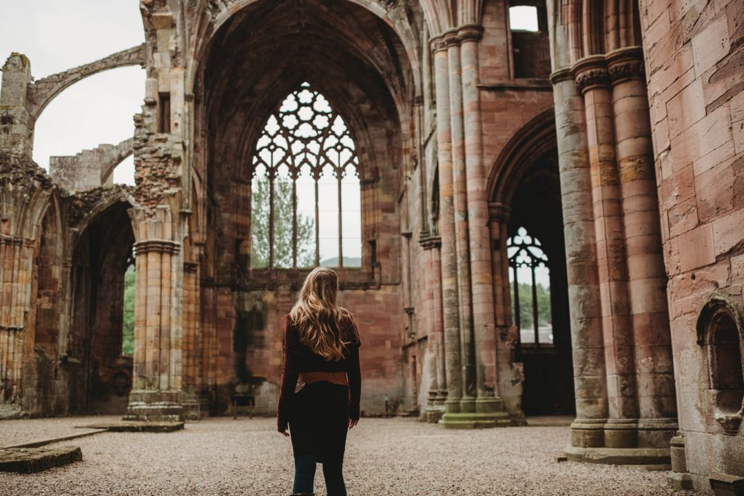dancer at melrose abbey, scottish borders