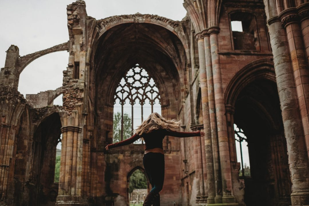 dancing at melrose abbey, scottish borders