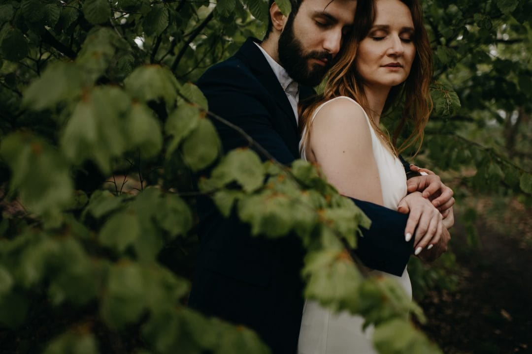 Couple eloping whilst on vacation to Scottish Highlands - forest elopement