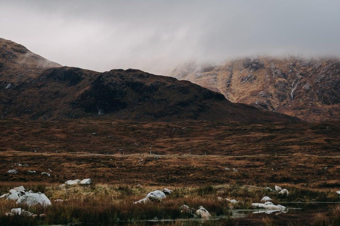 Foggy Glencoe mountains - Scottish Highlands