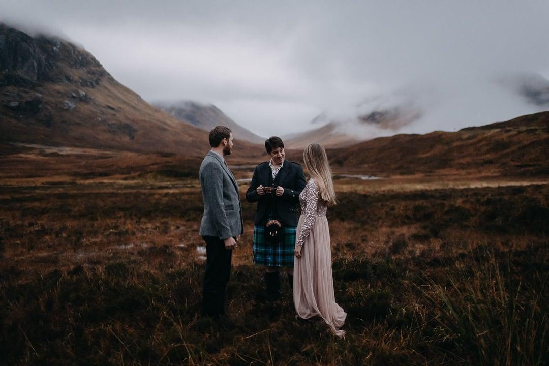 Handfasting ceremony in Glencoe Scotland - drinking the quaich