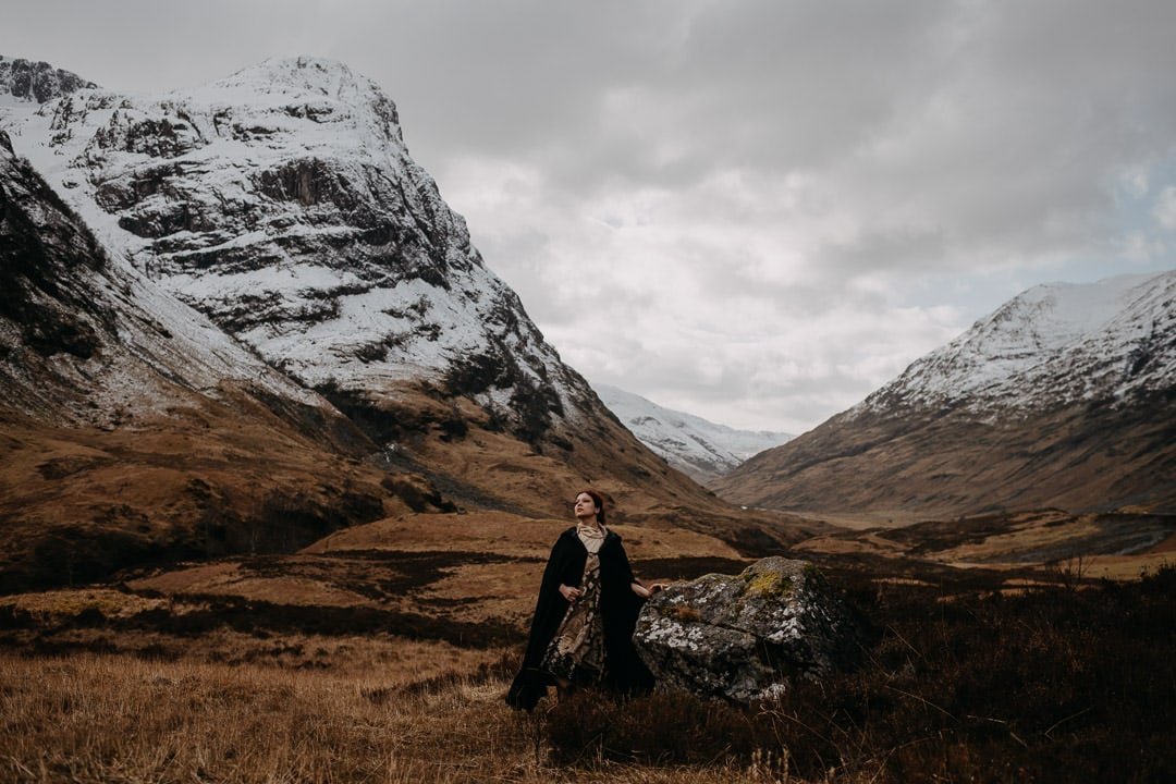 three sisters glencoe elopement bride