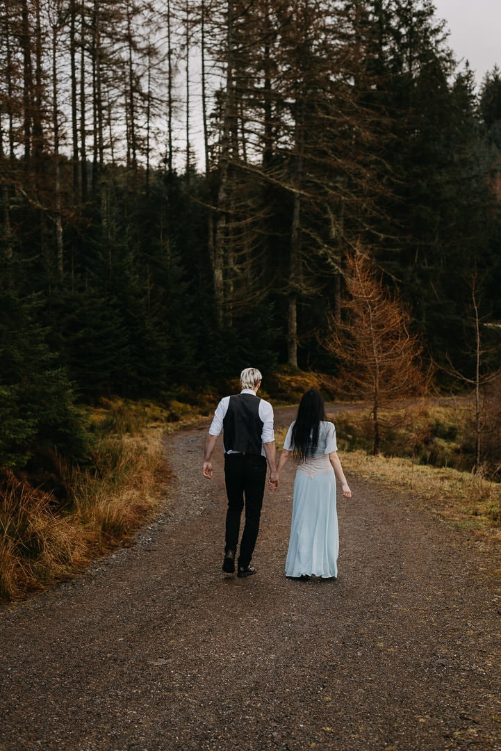Trossach elopement couple adventuring in the Highlands, Scotland