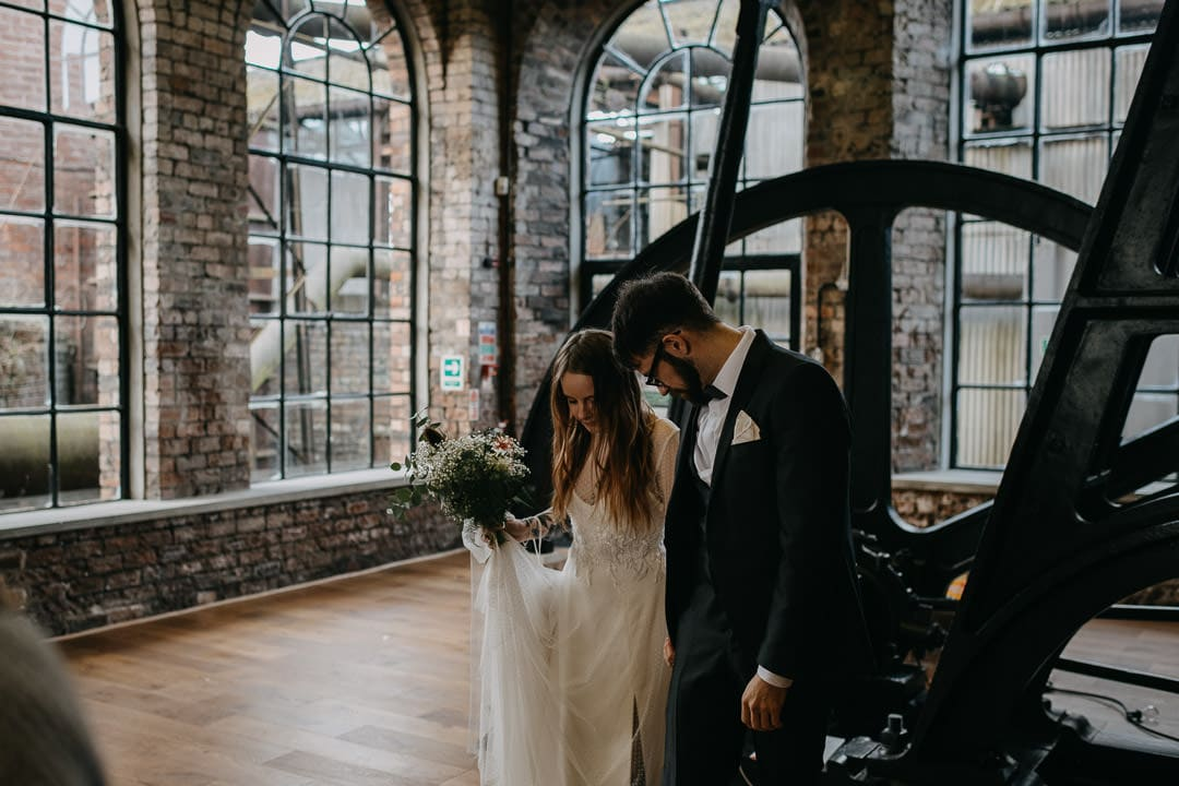 Wedding at the National Mining Museum, a quirky scottish wedding venue