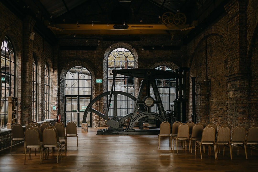 wedding styling inside the national mining museum - scotland elopement photographer