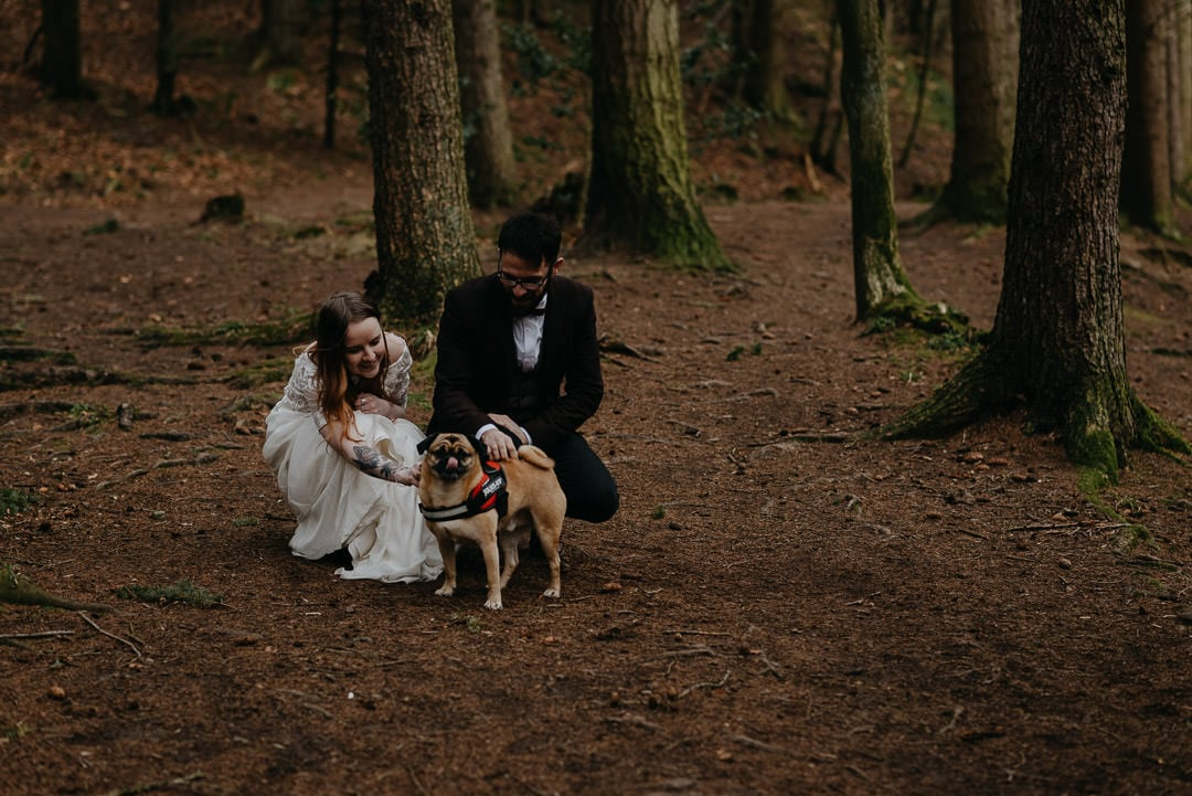 Eloping with a dog in Scotland - beautiful moment by Scottish elopement photographer