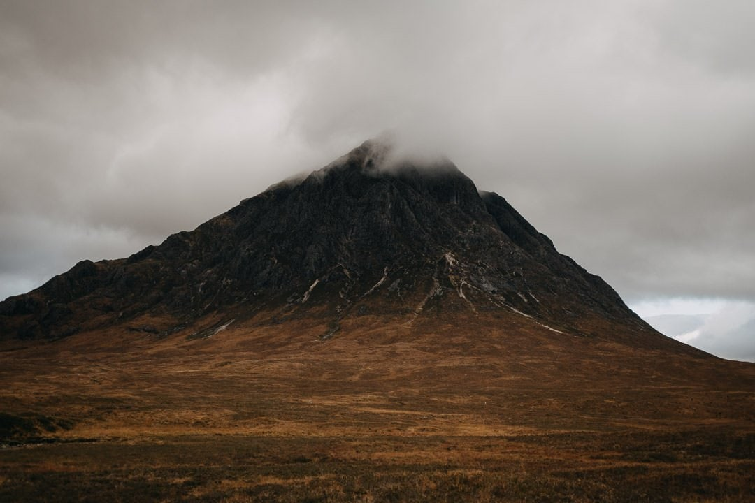 Buachaille Etive Mòr - foggy moody scottish mountain