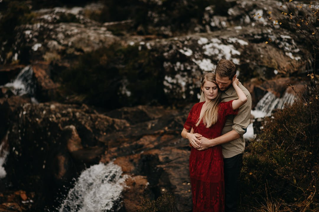 Glen Etive, Buachaille Etive Mòr romantic adventure session for couple