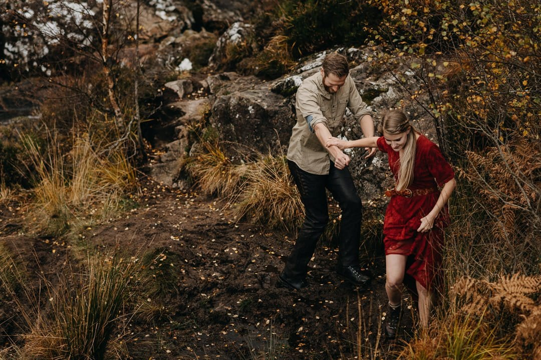Scottish highlands - adventure session with couple