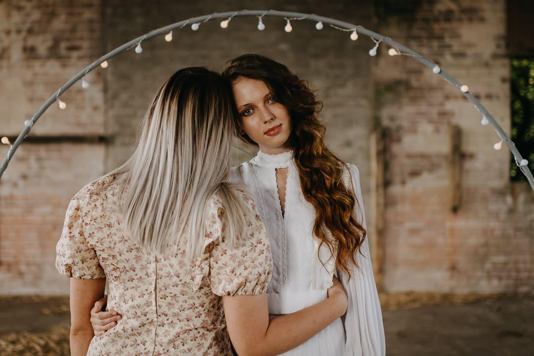 Getting ready to elope - Scottish boho elopement