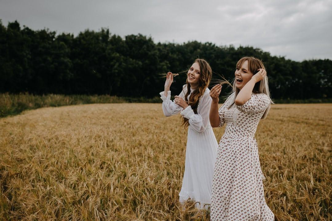 Scottish vintage boho elopement inspiration - field