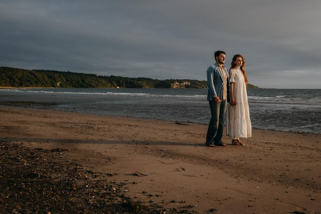Scottish beach elopement, Ayr - vintage boho style