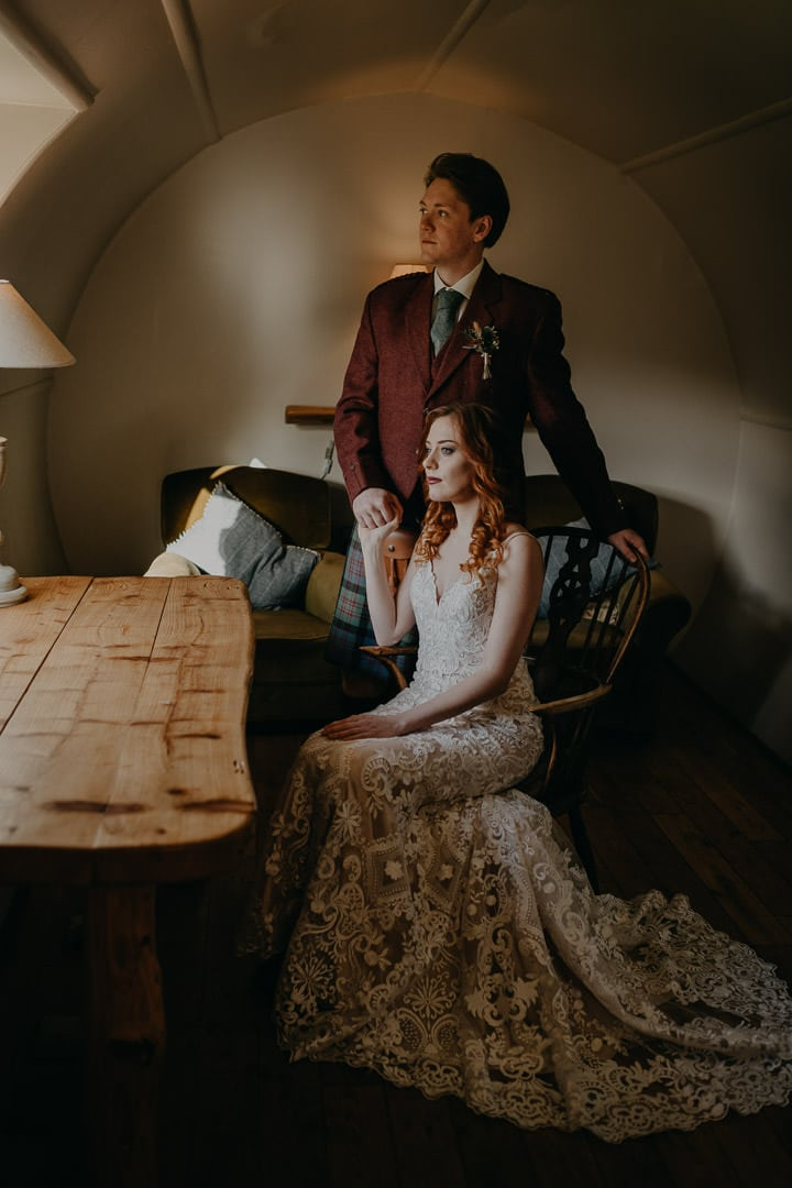 Scottish elopement inspiration - getting ready in the morning