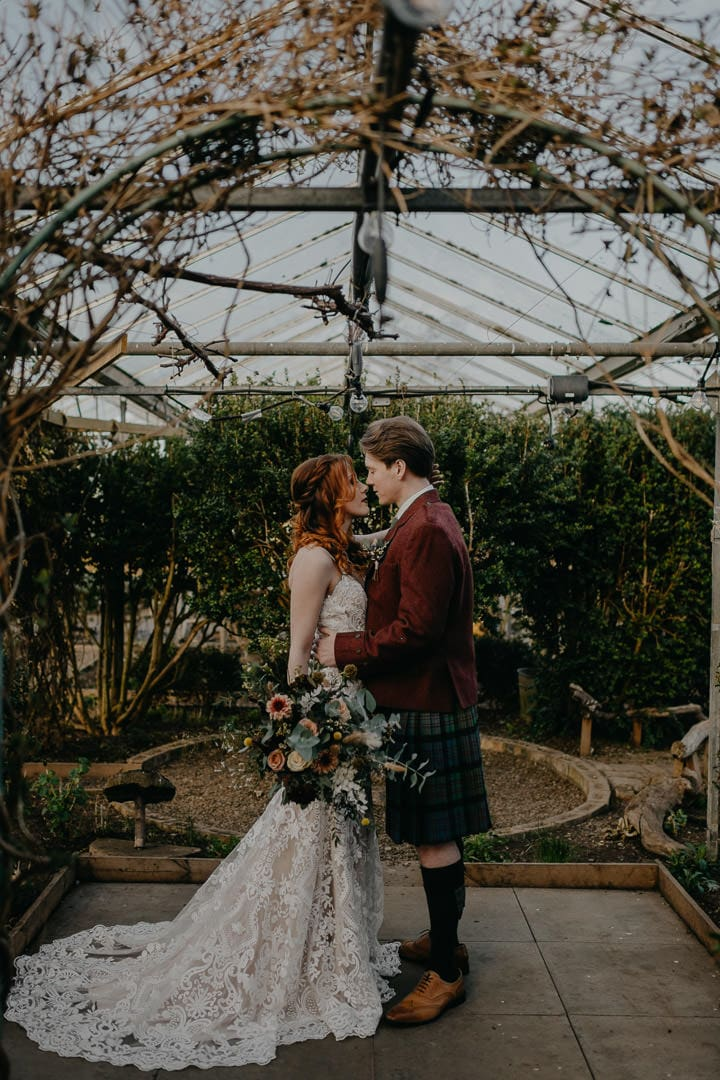 Greenhouse venue for Scottish elopement - Secret Herb Garden, Edinburgh