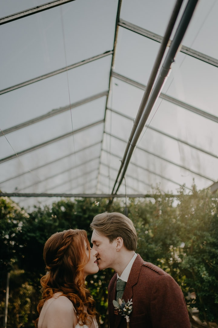 elope in a greenhouse, Scottish elopement ceremony