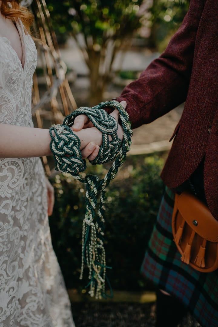 handfasting cord, Scotland - elopement ceremony
