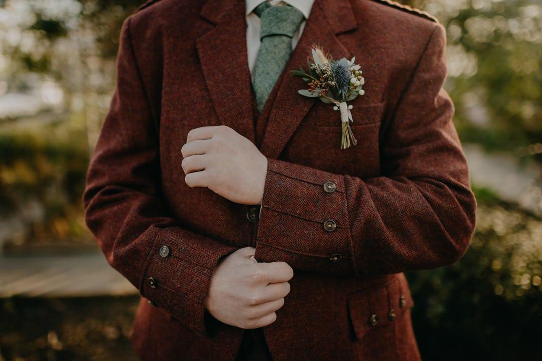 Kilt suit style - red jacket