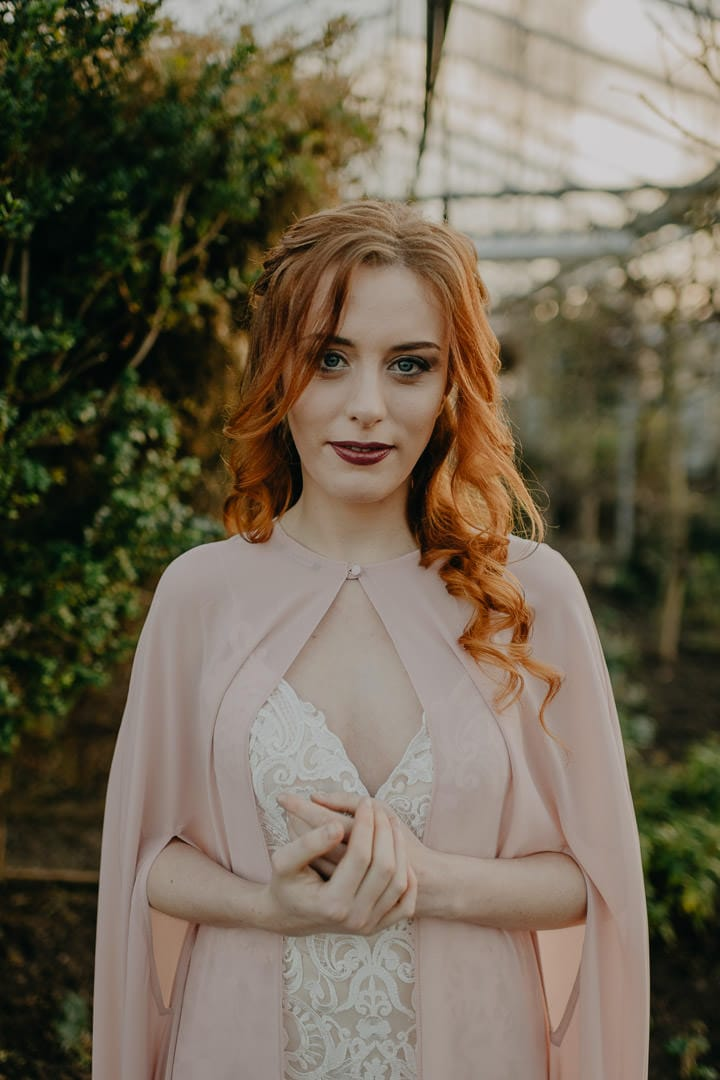 Bohemian Celtic bride with red-hair - Scottish elopement