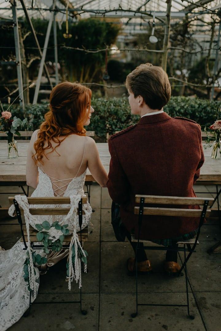 Reception at Scottish wedding and elopement venue - Secret Herb Garden