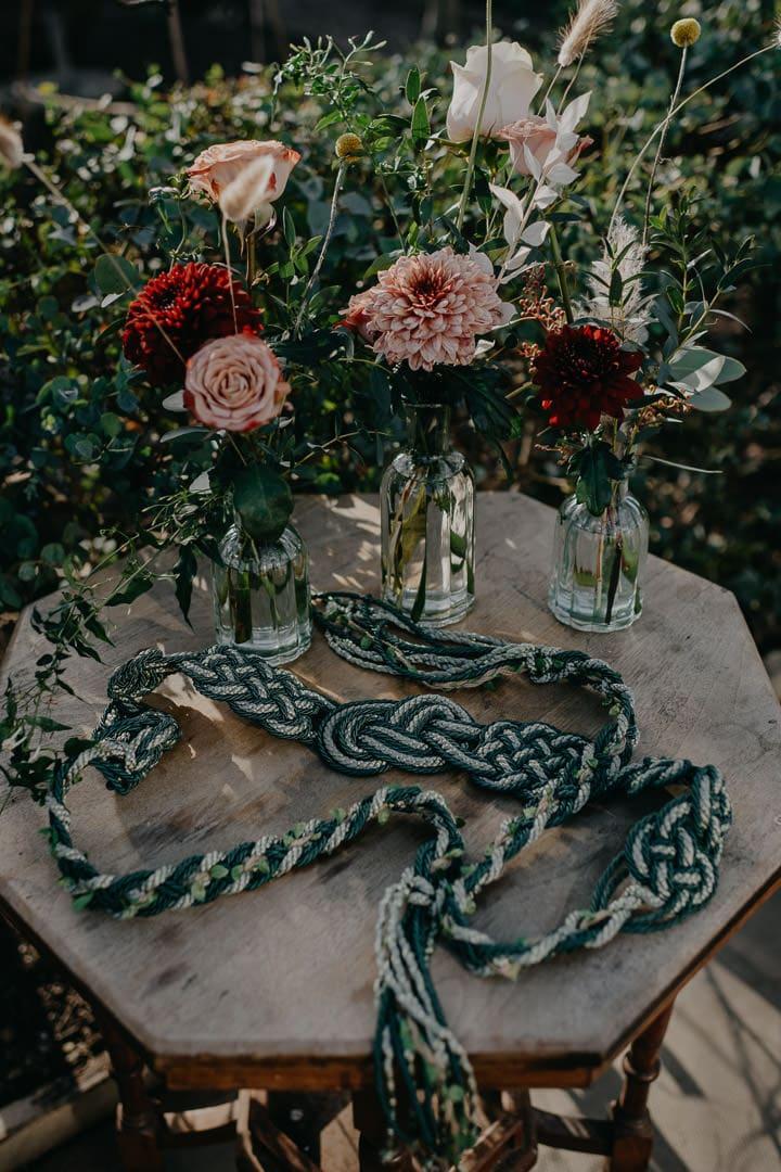 Handfasting cord for celtic Scottish elopement ceremony