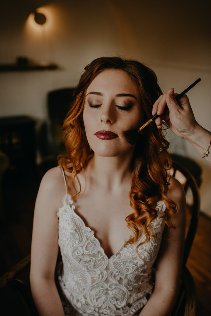 Elopement bride makeup - red-haired