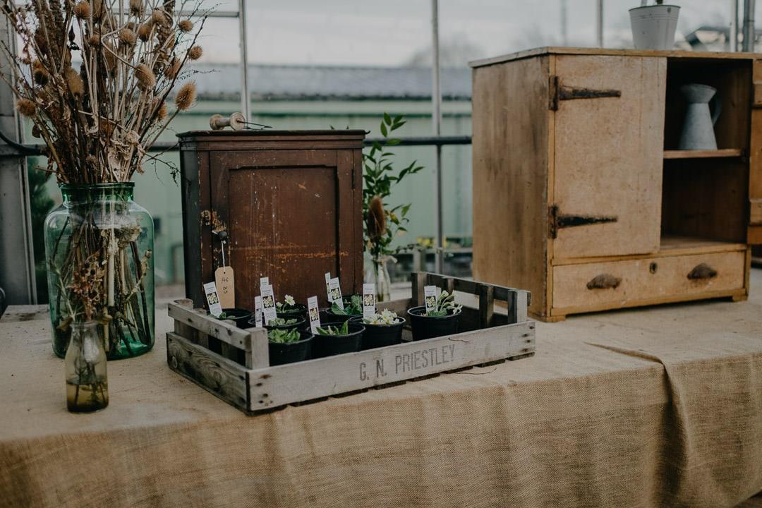 details at the Secret Herb Garden, wedding venue - Scotland