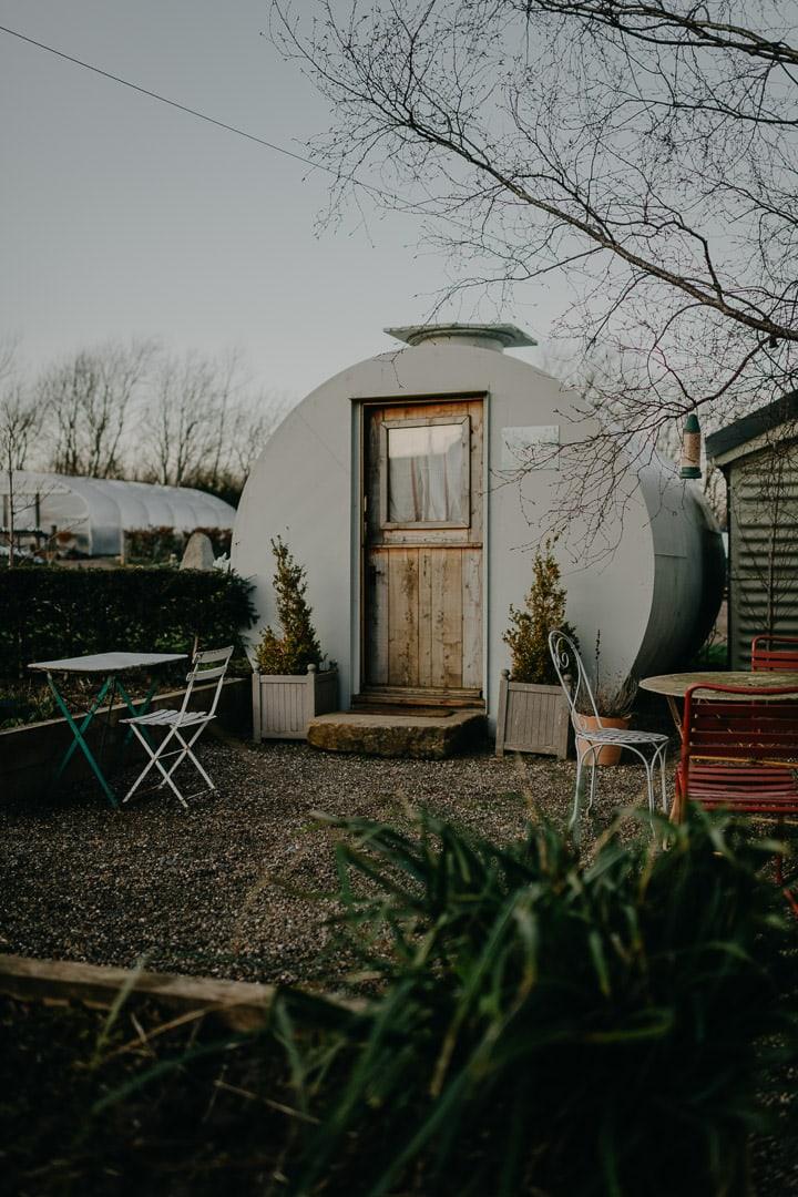 Getting ready space during Scottish elopement - Secret Herb Garden