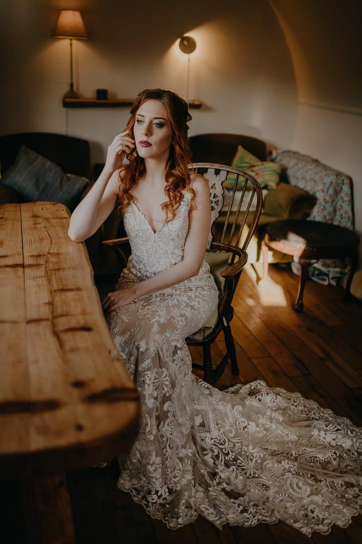 Scottish elopement inspiration - bride getting ready