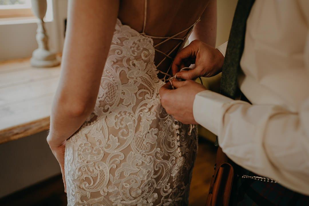Lace bohemian bridal dress inspiration - lace up