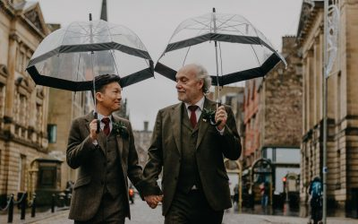 Let's talk about rain on your wedding day or couples session in Scotland