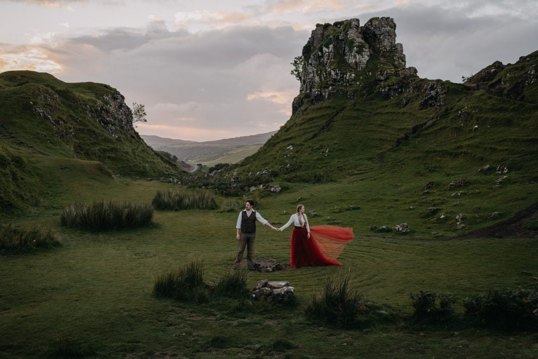 Leave no trace in Scotland - keep Scotland wild and beautiful for future elopements - Isle of Skye couple eloping