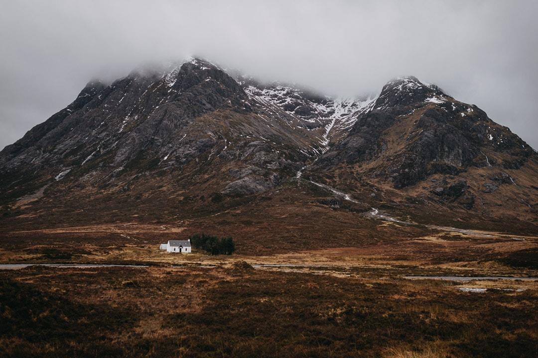 Romantic winter Glencoe adventure elopement