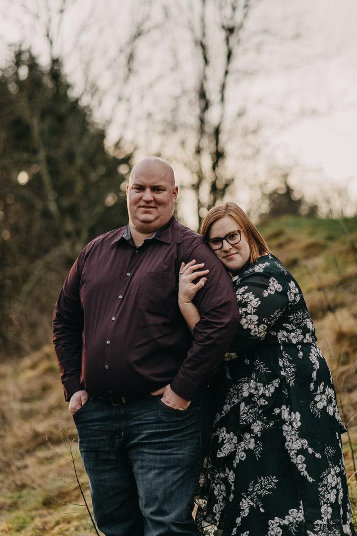 Cute couple visiting Scottish outlander location - Doune Castle