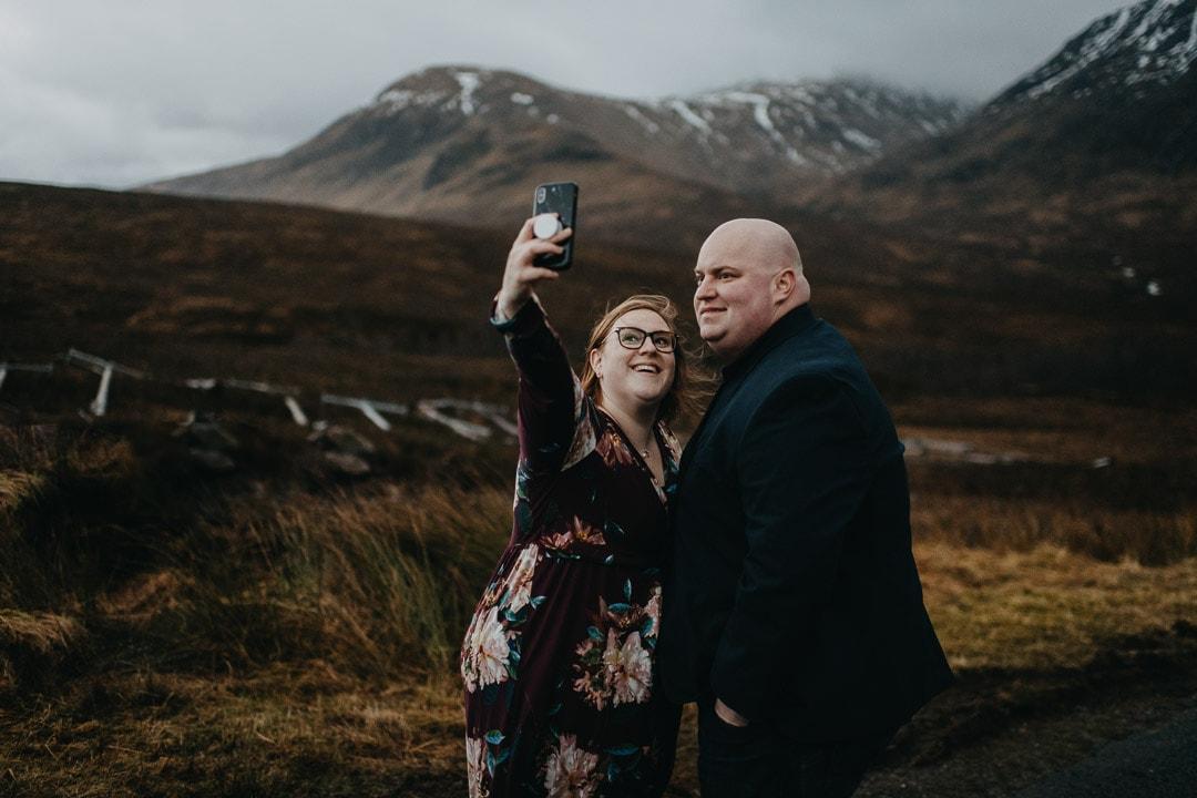 End of shoot selfie at Glencoe, Scotland