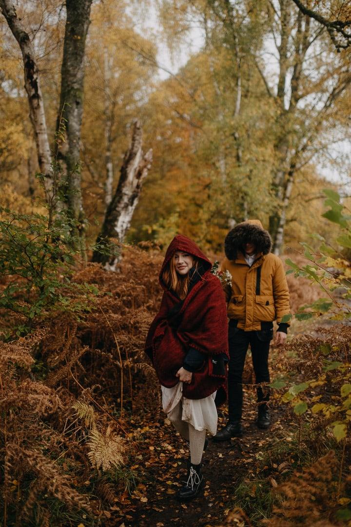 autumn elopement in finnich glen