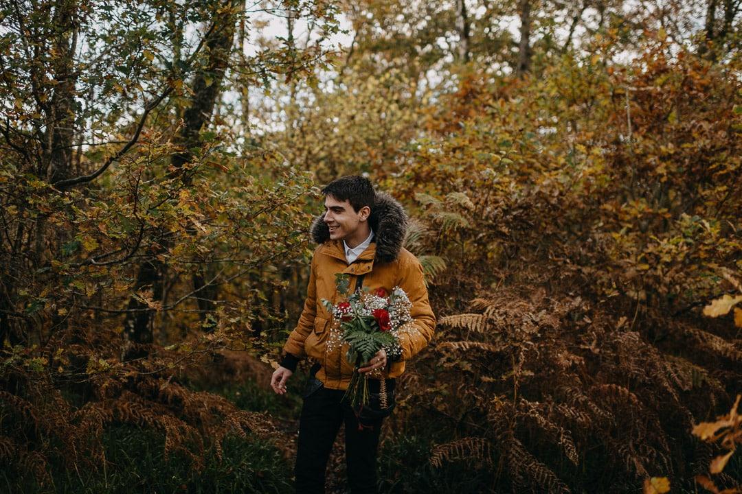 eloping in finnich glen - groom