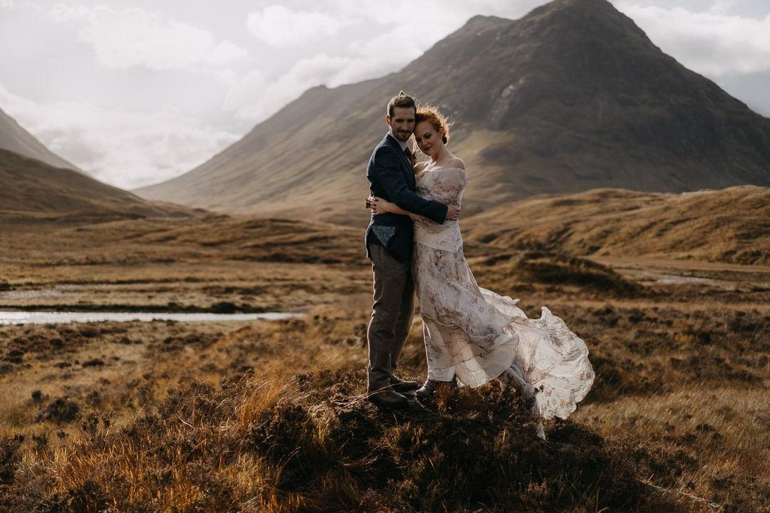 Rue de Seine elopement dress - Glencoe, Scotland