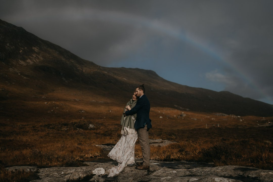 Glencoe rainbow during elopement