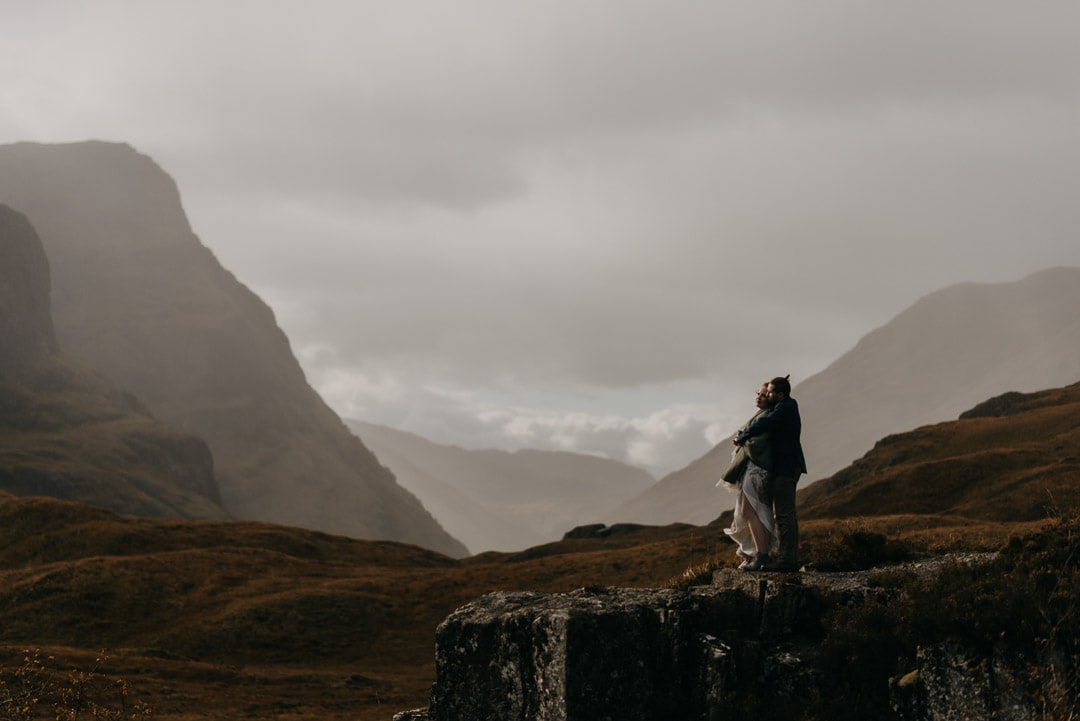 Glencoe adventure elopement - couple