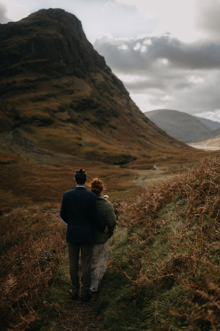 Epic Glencoe elopement couple