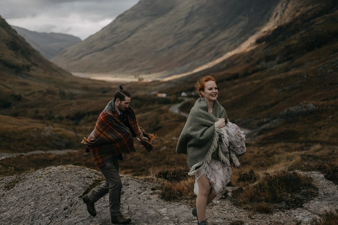 Glencoe elopement couple