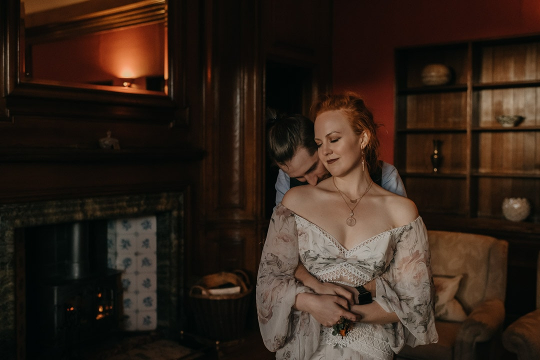 Glencoe house elopement - romantic suite