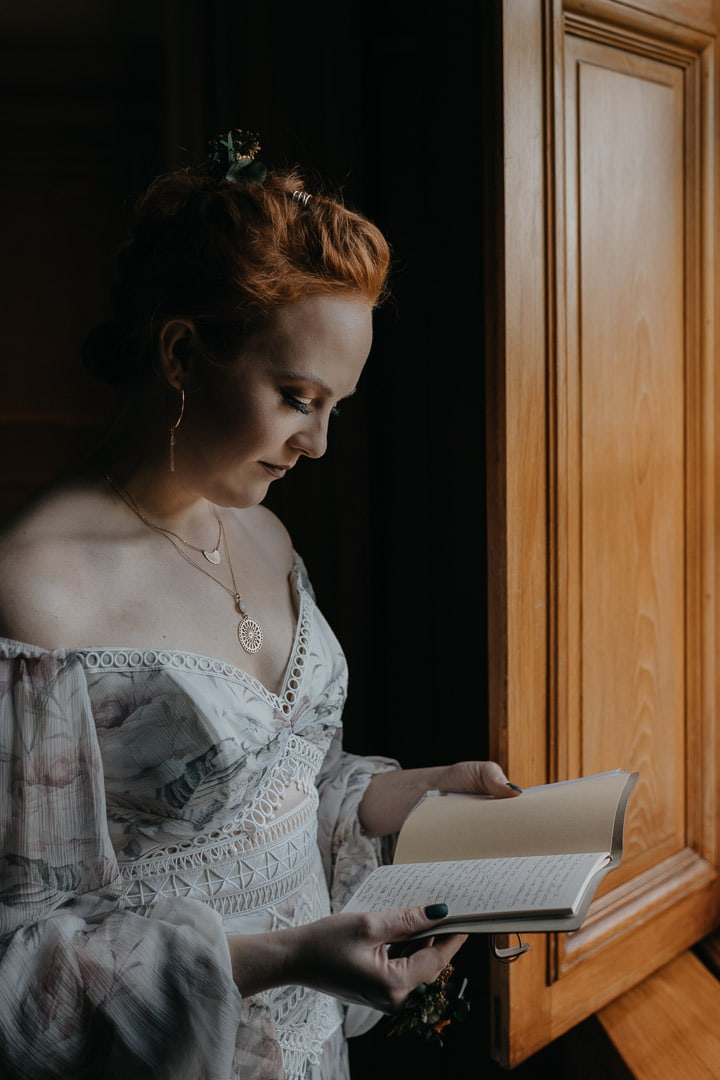 Glencoe elopement bride - getting ready