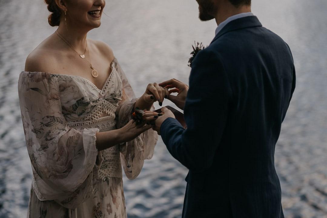Glencoe lochan elopement ceremony